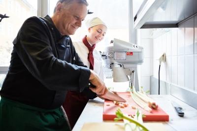 Küchenmeister Willi in Aktion